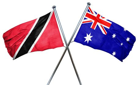 isolation backdrop: Trinidad and tobago flag combined with australian flag