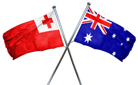 combined: Tonga flag combined with australian flag