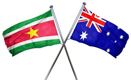 suriname: Suriname flag combined with australian flag