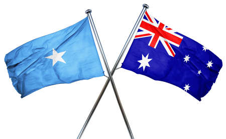 amity: Somalia flag combined with australian flag