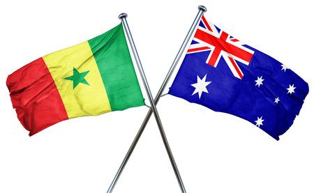 senegal: Senegal flag combined with australian flag Stock Photo