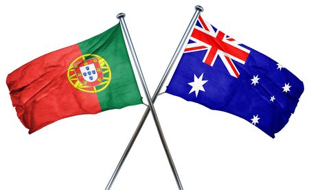 portugese: Portugal flag combined with australian flag
