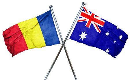 romania flag: Romania flag combined with australian flag