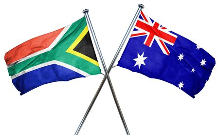 south africa flag: South africa flag combined with australian flag