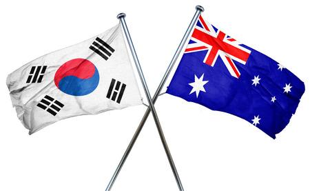 korea flag: South korea flag combined with australian flag