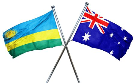 australian culture: Rwanda flag combined with australian flag