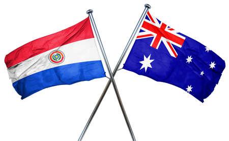 bandera de paraguay: bandera de Paraguay combina con bandera australiana Foto de archivo
