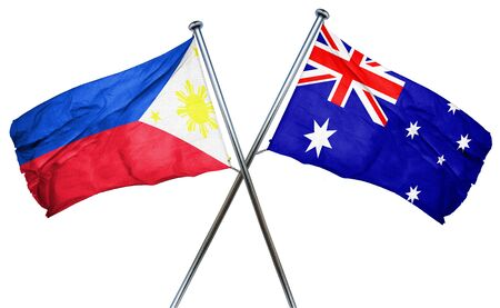 australian culture: Philippines flag combined with australian flag