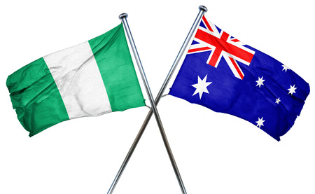 treaty: Nigeria flag combined with australian flag