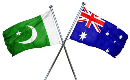 amity: Pakistan flag combined with australian flag