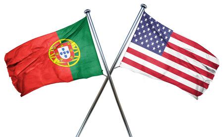 drapeau portugal: Portugal drapeau combin� avec drapeau am�ricain