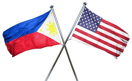 amity: Philippines flag combined with american flag