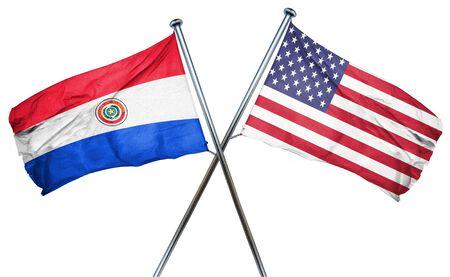 bandera de paraguay: bandera de Paraguay combin� con la bandera americana