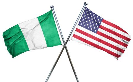 Vlag van Nigeria gecombineerd met Amerikaanse vlag