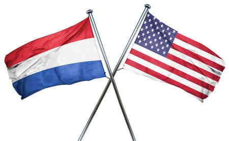 netherlands flag: Netherlands flag combined with american flag