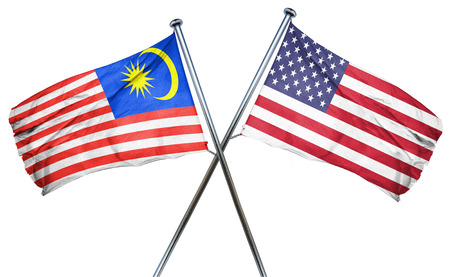 amity: Malaysia flag combined with american flag
