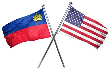 liechtenstein: Liechtenstein flag combined with american flag