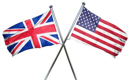 bandera de gran bretaña: Gran bandera de Gran Bretaña combinado con la bandera americana Foto de archivo
