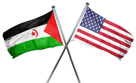 amity: Western sahara flag combined with american flag