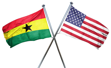 ghanese: Ghana flag combined with american flag