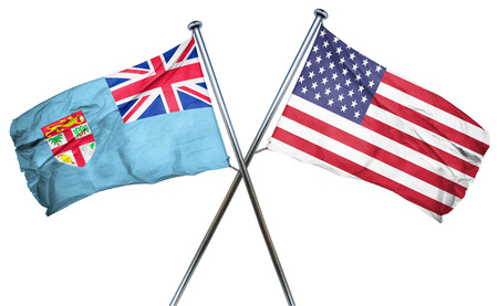 combined: Fiji flag combined with american flag