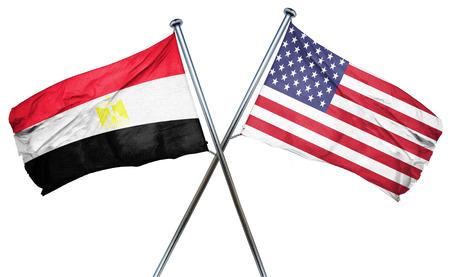 bandera de egipto: bandera de Egipto se combina con la bandera americana