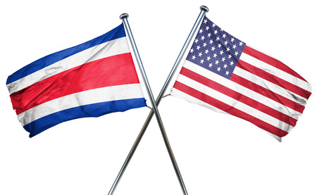 costa rica: Costa Rica flag combined with american flag