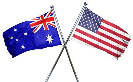 australia flag: Australia flag combined with american flag Stock Photo