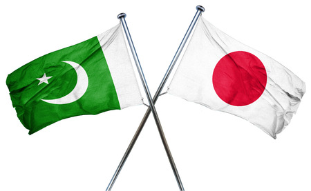 treaty: Pakistan flag combined with japan flag