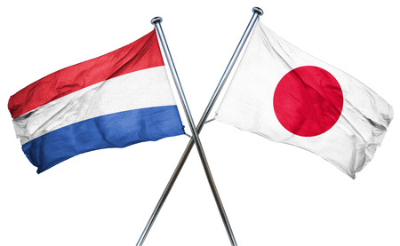 isolation backdrop: Netherlands flag combined with japan flag