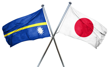 nauru: Nauru flag combined with japan flag