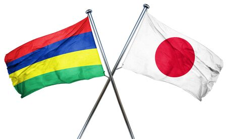 treaty: Mauritius flag combined with japan flag
