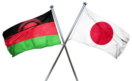 isolation backdrop: Malawi flag combined with japan flag