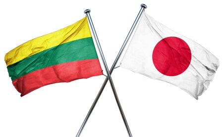 lithuania: Lithuania flag combined with japan flag Stock Photo