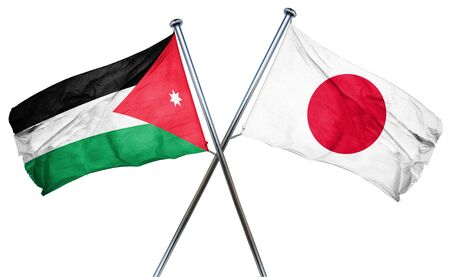 isolation backdrop: Jordan flag combined with japan flag
