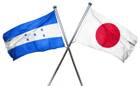 treaty: Honduras flag combined with japan flag