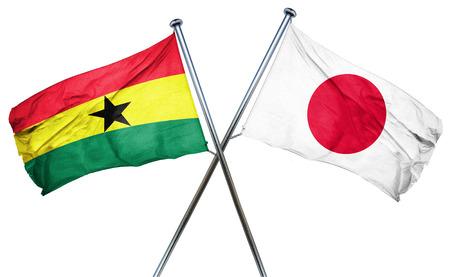 ghanese: Ghana flag combined with japan flag