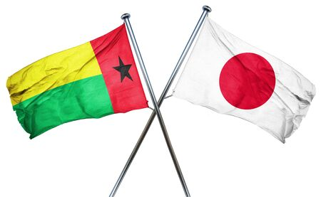 combined: Guinea bissau flag combined with japan flag Stock Photo
