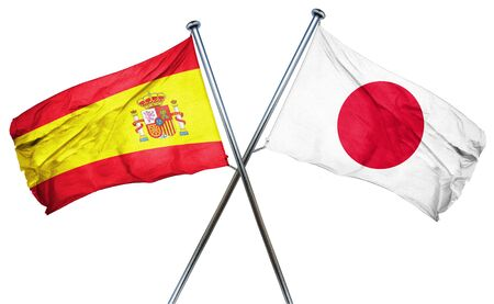 combined: Spanish flag combined with japan flag