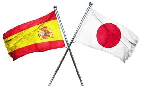 spanish flag: Spanish flag combined with japan flag