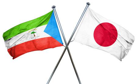 equatorial: Equatorial guinea flag combined with japan flag Stock Photo