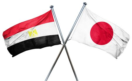 egypt flag: Egypt flag combined with japan flag