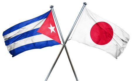 cuba flag: Cuba flag combined with japan flag