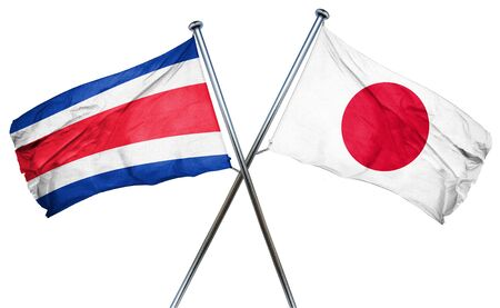 isolation backdrop: Costa Rica flag combined with japan flag