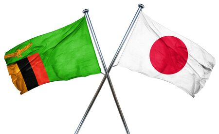 zambian flag: Zambia flag combined with japan flag
