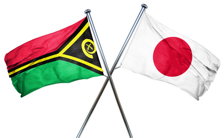 combined: Vanatu flag combined with japan flag