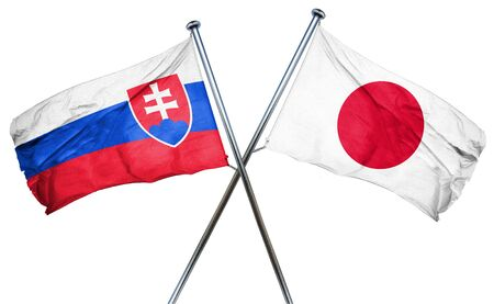 slovakia flag: Slovakia flag combined with japan flag Stock Photo