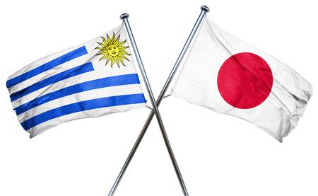 bandera de uruguay: bandera de Uruguay combinado con la bandera de Japón Foto de archivo
