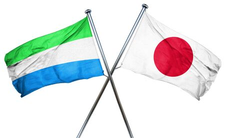 sierra leone: Sierra Leone flag combined with japan flag Stock Photo