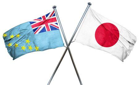 tuvalu: Tuvalu flag combined with japan flag